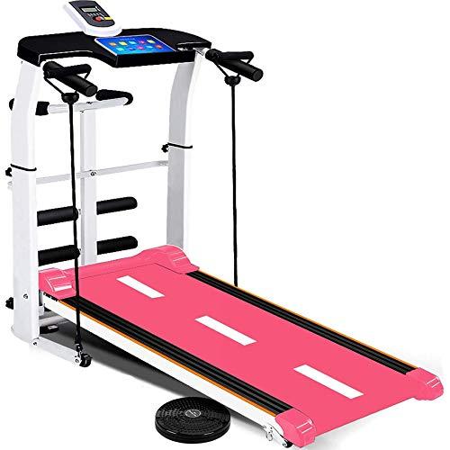 LKOER Cinta de Correr de Funda de Almohada, Cinta rodante Plegable para casa, máquina de Correr con Monitor LCD, Jogging Caminando Ejercicio Fitness ma jinyang (Color : Pink)