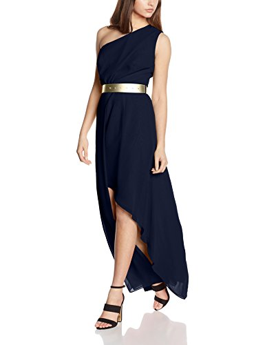 Swing Damen One-Shoulder Kleid, Blau (marine 300), 38