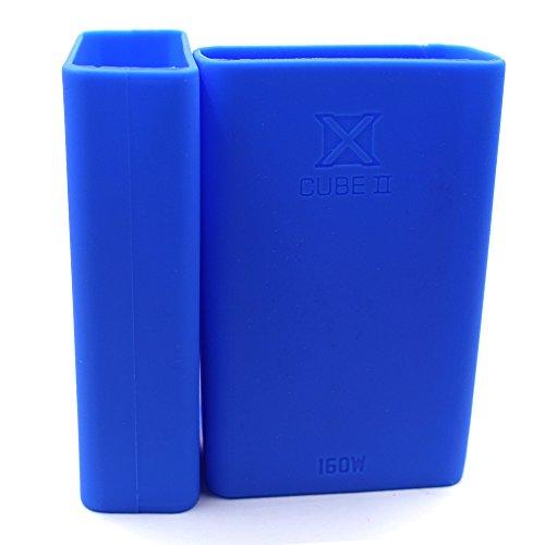 NIEUWE Anti-slip SMOK Xcube II doos X kubus 2 160W Beschermende Zachte Siliconen Gel Skin Sleeve Wrap Case Cover Mode Safe Past Smok X Cube II 160 W Mod Kit, Blauw