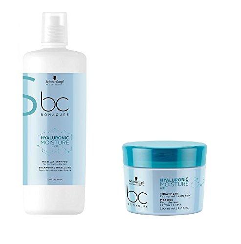 Schwarzkopf Bonacure Hyaluronic Moisture Kick Micelar Shampoo 1000ml y tratamiento 200ml