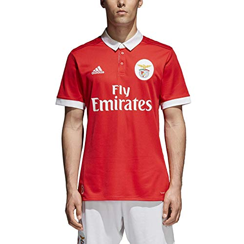 adidas Men's Soccer Benfica Home Jersey (Small) Red/White