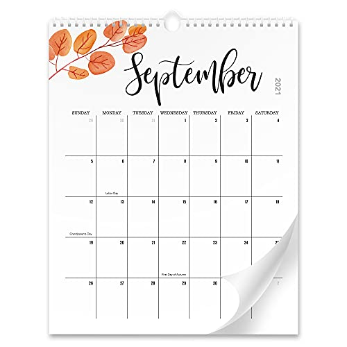 Aesthetic Floral Wall Calendar - The Perfect Monthly Calendar With Seasonal Designs for Easy...