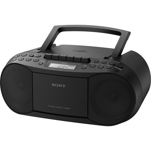 Sony Portable Digital Tuner AM/FM Radio Cd Player & Tape Cassette Recorder Mega Bass Reflex Stereo Sound System Plus 6ft Cube Cable Aux Cable to Connect Any iPod, iPhone or Mp3 Digital Audio Player