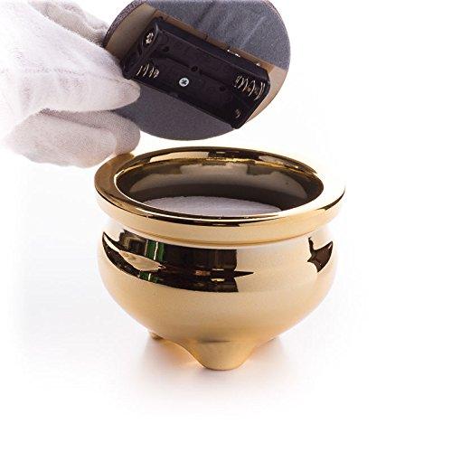 仏具LED電子線香サンやすらぎ寝かせ線香タイプ(茶/2.5寸)