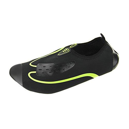 FakeFace Unisexe Chaussures d'eau Basses Adultes Hommes Femmes Respirant Chausson de Maison Sport Formation Fitness Gym Yoga Aquatiques en Néoprène pour Plage Piscine Nage Plongée Surf
