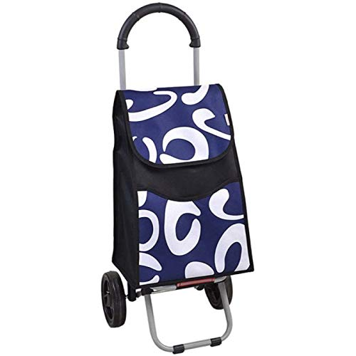 Shopping Trolleys Simple Cart Shopping Light Folding,Household Shopping Cart Climb The Stairs Collapsible Pull Cart,Blue