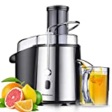 Homeleader Juicer Juice Extractor Wide Mouth Centrifugal Juicer, 2 Speed Juicer Machine For Fruits & Vegetable, Stainless Steel, 700W