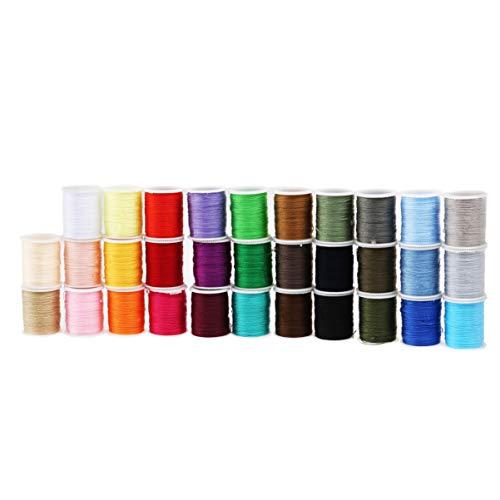 ULTECHNOVO Kit de Herramientas de Costura Suministros de Máquina de Coser Coloridos Accesorios de Hilo Conjunto de Caja de Costura Herramientas de Costura