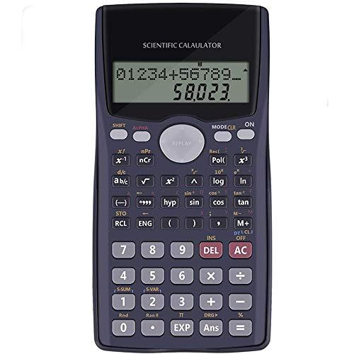 Calculadora Cientifica Calculadora Escolar de Examen - Calculadora de Oficina Financiera Negra, Calculadora No Programable Profesional, Calculadora Cientifica Selectividad Matemáticas Examen