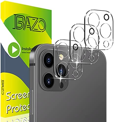 Read more about the article [3 Pack] BAZO Tempered Glass Camera Lens Protector Compatible for iPhone 12 Pro Max 6.7″ 5G, [Case Friendly] HD Clear 9H Hardness Back Camera Protector