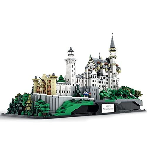 Bloques De Construcción De La Casa Modular del Castillo De Neuschwanstein, Castillo Grande De La Princesa, Edificio Modular, Modelo De Conjunto De Construcción De Arquitectura Moc