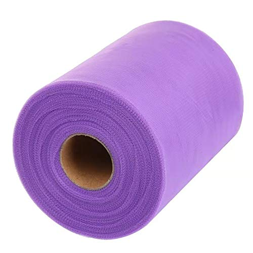 Tulle Roll Spool Fabric for Sewing, Table Skirt and Wedding Decoration,Many Colors Available, 6 Inches by 100 Yards! (Lavender)