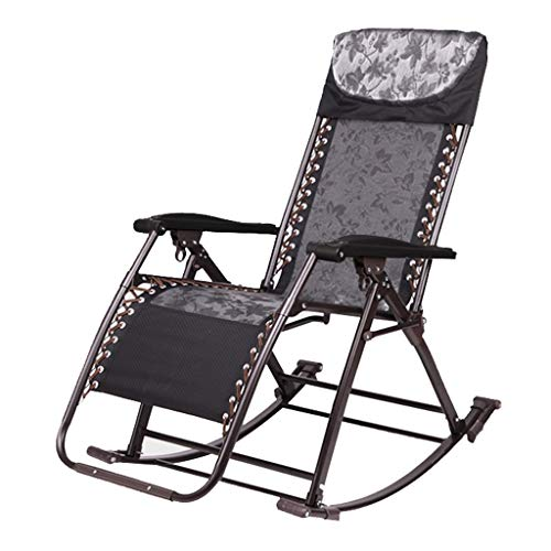 Fauteuil inclinable d'été chaise longue bureau paresseux de plage en plein air chaise berçante lit d'hôpital réglable chaise de terrasse (Couleur : Chair)