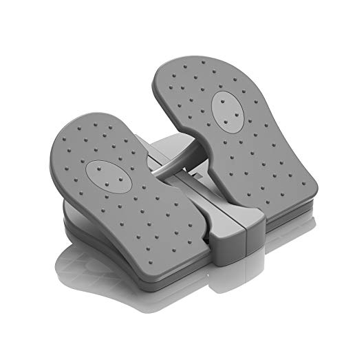 MBB Mini Stepper,Under Desk Pedal Exerciser,Folding Colorful Foot Peddle,Physical Therapy Leg Exercisers Peddle,Relieves Varicose Veins Gray Color