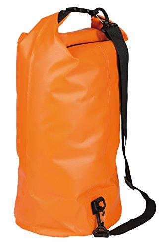 Idena 24003 - Seesack aus PVC, wasserdichte Tasche mit Tragegurt, 30 Liter, orange, ideal für Camping, Wassersportler und auf Reisen