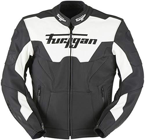 Furygan Bullring Motorrad Lederjacke Schwarz/Weiß M