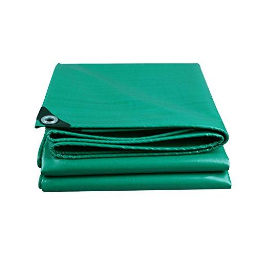 ZZYE Lona Tarp, Lona Impermeable: Refugio de Lluvia de Emergencia, Cubierta al Aire Libre y Uso de Camping, Verde, Grosor 0.45mm, 500 g / m2 Lona Impermeable (Size : 4X5)