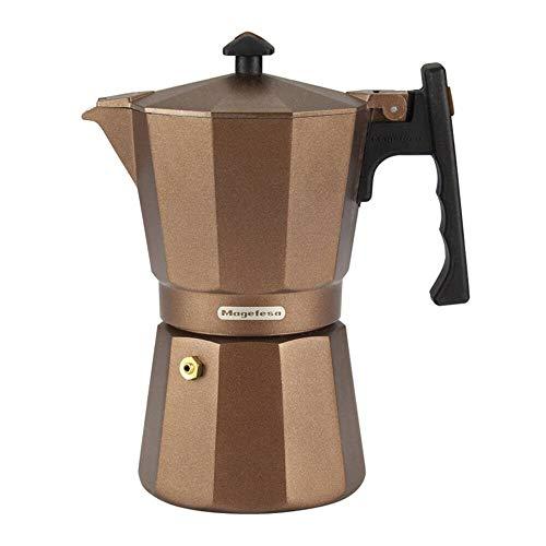 MAGEFESA 01PACFJAM09 01PACFJAM09-Cafetera Modelo Jamaica Brown de 9 Tazas, Multicolor