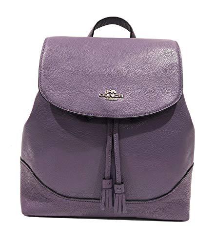 Coach Elle Leather Backpack (SV/Dusty Purple)