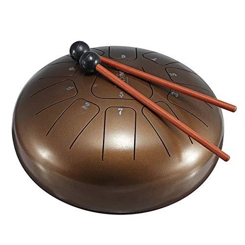 Percussion Set 11 Bronze Stahlzunge Percussion Drums HandPan Instrument mit Drum Schlägel und Tasche 10 Zoll