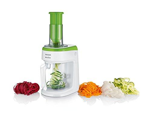 Severin KM 3921 Spiralizzatore Elettrico di Vegetali, BPA Free, Bianco/Verde
