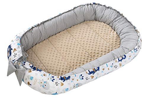 Réducteur de Lit Bébé Cocon 90x50cm nouveau-né 100% Coton Baby nest Medi Partners amovible insert couffin de voyage portable