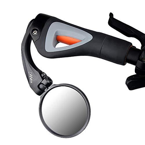 MA87 Qualitäts-Fahrrad-Fahrradlenker Hinterer Flexibler Sicherheit Rückspiegel (Schwarz)