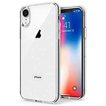 TENOC Phone Case Compatible for Apple iPhone Xr 6.1 Inch Crystal Clear Ultra Slim Cases Soft TPU Cover Protective Bumper