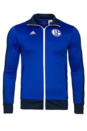 adidas Herren Trainingsjacke FC Schalke 04 Track Top, Cobalt/Collegiate Navy, XS