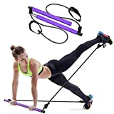 CHONGQI Pilates Bar Kit with Exercise Resistance Bands Yoya Portable Pilates Stick with Foot Loop Muscle Workout Toning Bar for Home Gym Pilates for Total Body