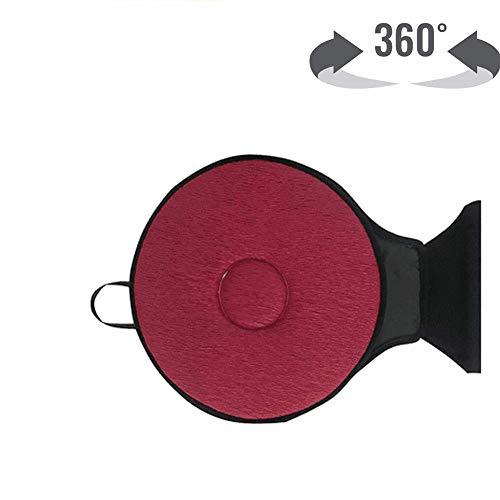 TUHFG Rutschfestes Sitzdrehkissen Ultradünnes 360 ° Drehbares Memory-Schwamm-Polster Für Autos Bürostühle Alter Mann Schwanger,D
