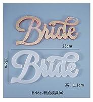 シリコンモールド 1pcようこそこんにちはお誕生日おめでとうございますDIYシリコーン金型ドライフラワージュエリーアクセサリーツール樹脂型 (Color : 06 bride)