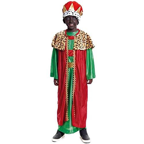 Disfraz Rey Mago Baltasar niño infantil para Navidad 7-9 años