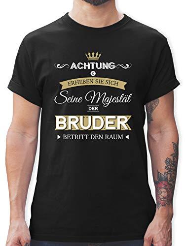 Bruder & Onkel - Seine Majestät der Bruder - 3XL - Schwarz - eure majestät t-Shirt Bruder - L190 - Tshirt Herren und Männer T-Shirts