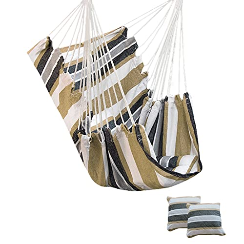 wenyi Outdoor Hammock Swing Thickened Hanging Chair Rocking Chair Portable Relaxing Canvas Swing Travel Camp Lazy Chair Without Pillow (Color : M)