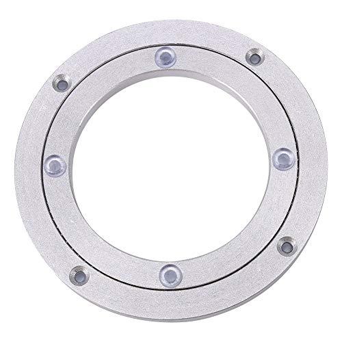 Yosoo Heavy Duty Aluminium Legierung Rotierende Lager Turntable Runde Speisetisch Smooth Swivel Plate (Abmessung : 8inch)