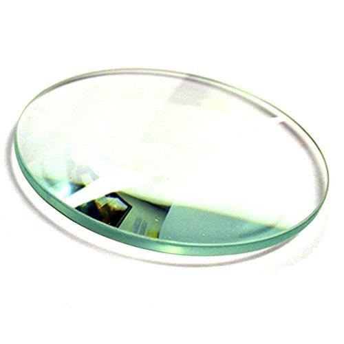 UEETEK Científica vidrio pulido lente doble convexa laboratorios vidrio óptico lente convexa Bi 55mm diámetro