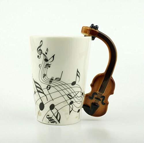 New Music keramische cup Cups Handle gitaar viool vloer latte kop thee cups voor geschenken,een afmeting,stijl 4