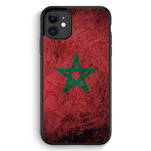 Marokko Splash Flagge - Silikon Hülle für iPhone 11 - Motiv Design Morrocco Marokkanisch National - Cover Handyhülle Schutzhülle Case Schale