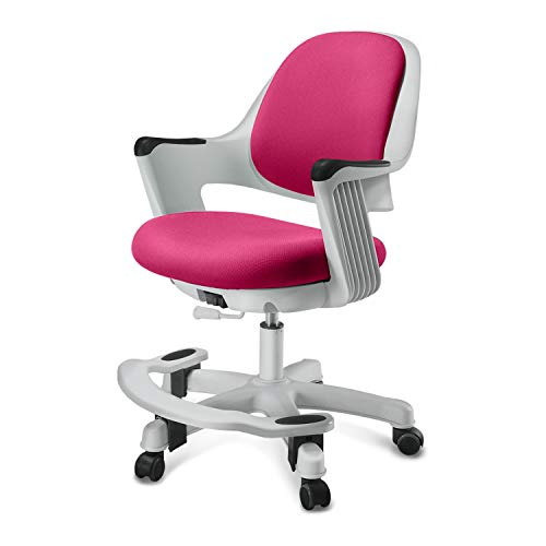 SitRite Ergonomic Kids Desk Chair Children Study Student Computer Home School Office Height Control Easy to Assemble (Rosie Pink, Swivel)