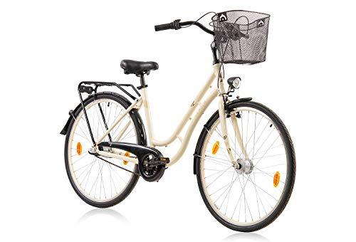 tretwerk DIREKT gute Räder Madeira 28 Zoll Citybike, Damen-Fahrrad 3-Gang Nabenschaltung