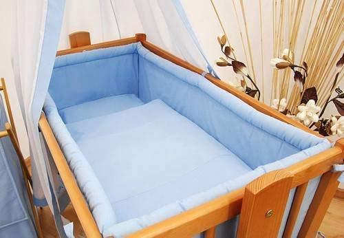 Kinderbett rund Gepolsterte Bumper Passend zu Regular 90 x 40 cm Kinderbett/Wiege (Blau)