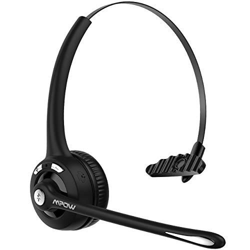 Mpow Bluetooth Headset, Upgrade BT5.0, Drahtloses Leicht-Headset mit Mikrofon, Wireless PC Headset, Freisprechen Chat Headset, Funk-Headset für Computer,Skype,VoIP,Call Center,Smartphone,Musik