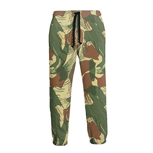 Xianshime Men's Sweatpants Rhodesian Brushstroke Print Trousers Active Gym Jogger Pants with Pocket White