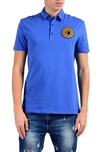 Versace Collection Men's Blue Logo Short Sleeve Polo Shirt Size US XL IT 54
