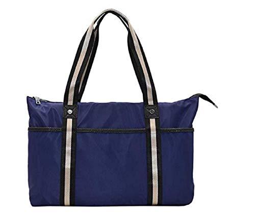 SQSLAY Sac à bandoulière Simple pour Femme, Sac Hobo de Voyage de Grande capacité, Sac à Main Portal,Blue