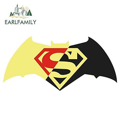 DSNGZ 13 cm x 9,2 cm Batman et Superman drôle Autocollants de Voiture décalcomanie RV Van 3D Bricolage Moto climatiseur Accessoires