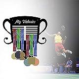 Banane Colgador de medallas de judo para correr fútbol, soporte de pared para medallas para corredores, decoración del hogar, dormitorio, moda