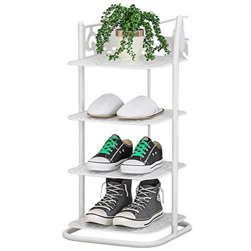 Organizador Zapatos Armario Mueble Zapatero Pequeño Zapatero Estrecho para Entrada, Torre de Zapatos de Metal de Estilo Japonés para Zapatos de Plantas, 27 cm de Ancho, para el Hotel Interior de la Of