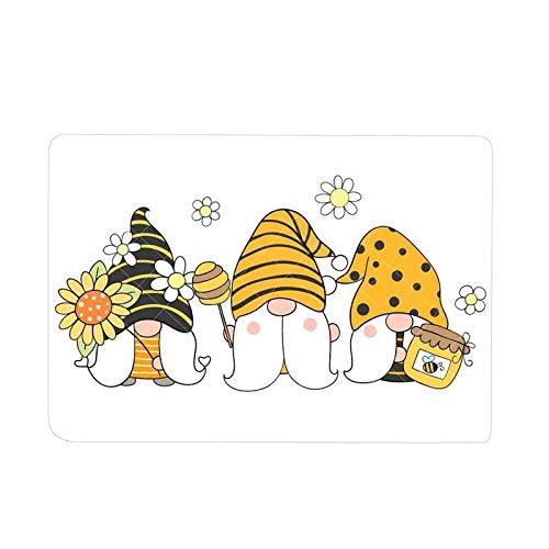 AC1 Tapis de sol antidérapant lavable avec motif de nains de tournesol et abeille